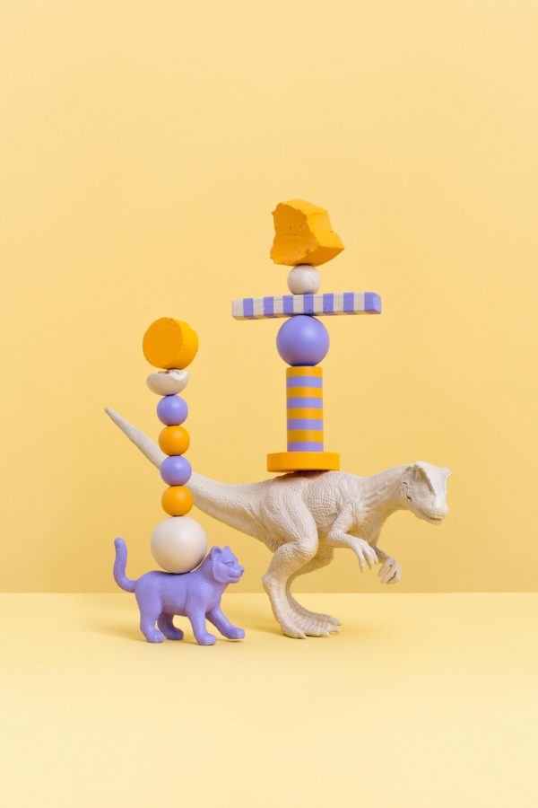 Cat and Dino, Sculptures